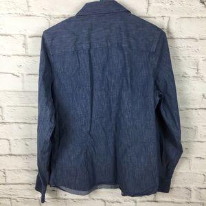 9ecaf5ed713 Coldwater Creek Tops - Coldwater Creek denim shirt medium cotton C05
